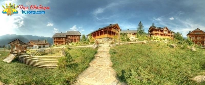 Вид на готель Коруна