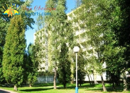 Корпус санатория Днестр в курорте Моршин